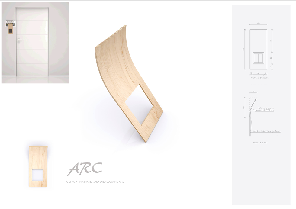 I nagroda w konkursie PORTA BY ME - projekt ARC